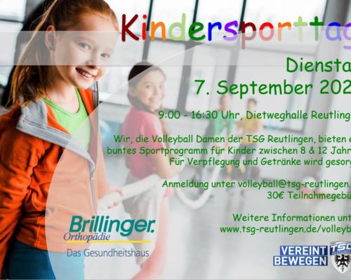 Kinder-Sporttag am 07.09.2021