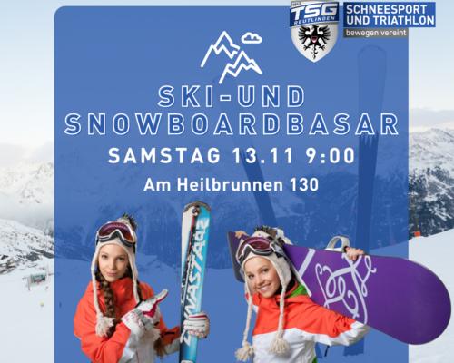 SKI- UND SNOWBOARDBASAR AM 13.11.